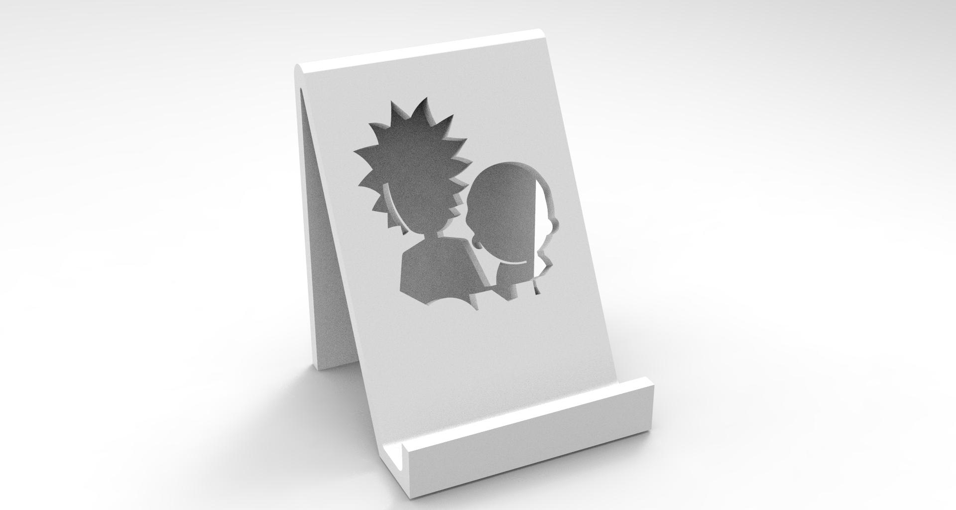 4.jpg Download STL file RICK E MORTY SUPORTE TELEFONE • 3D printer model, BrunoLopes