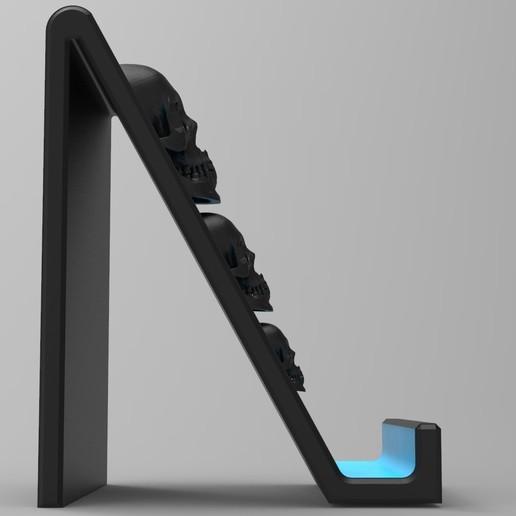 untitled.177.jpg Download STL file Smartphone Support Skull • Design to 3D print, BrunoLopes