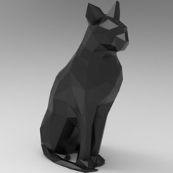 untitled.227.jpg Download STL file Low Poly  Cat • 3D printing model, 3dBras