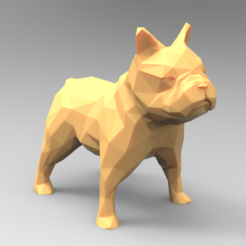 untitled.173.png Download STL file Low Poly Bulldog • 3D printable model, BrunoLopes