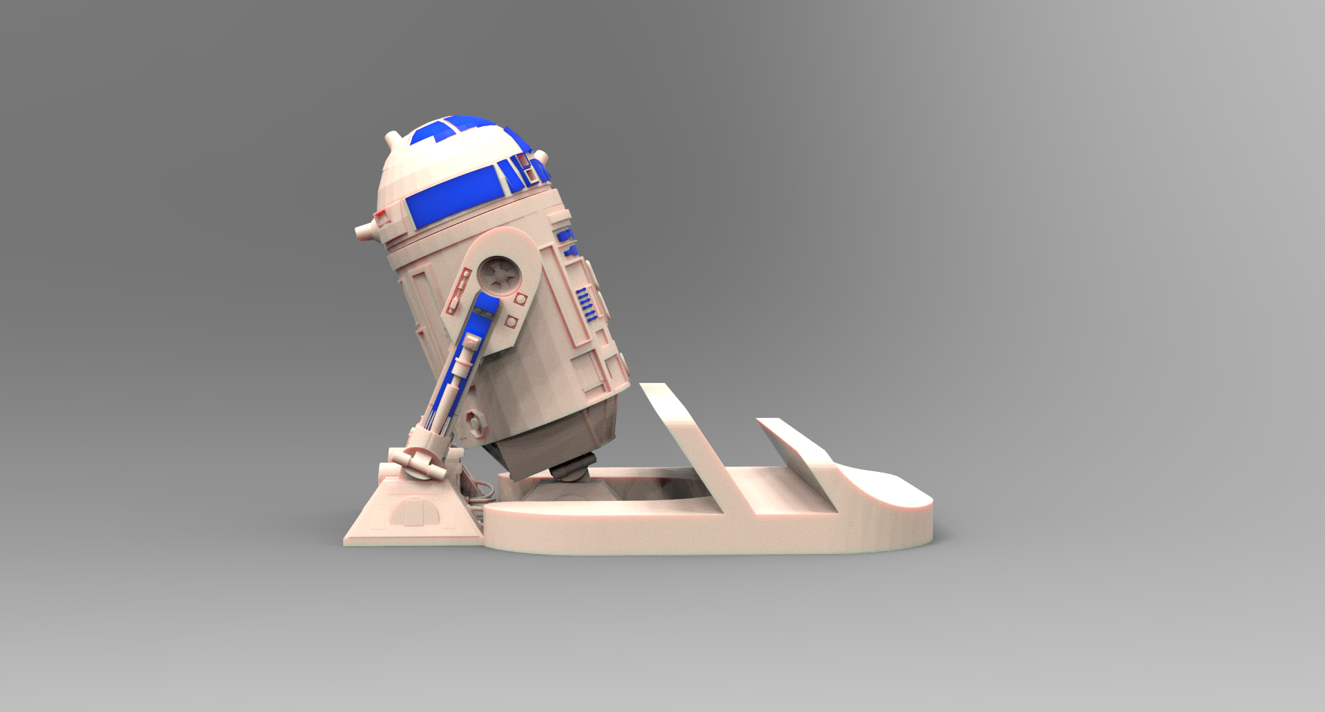 suporte r2d2.141.png Download STL file Smartphone Support R2D2 • 3D printer object, BrunoLopes