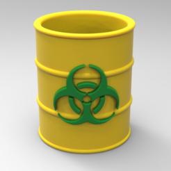 untitled.108.png Télécharger fichier STL Porte-crayon radioactif • Plan pour imprimante 3D, BrunoLopes