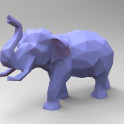 untitled.180.png Download STL file Elephant Low Poly • 3D printing design, 3dBras
