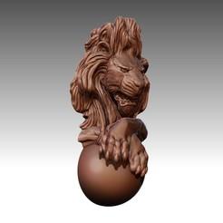 LB1.jpg Download OBJ file Lion Chain pendant 3D print model • 3D printer object, Joneto