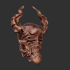 mask2.jpg Télécharger fichier OBJ Modèle d'impression 3D de Demon Mask • Objet à imprimer en 3D, Joneto