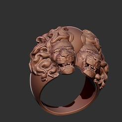 TL1.jpg Télécharger fichier OBJ Modèle d'impression 3D de l'Anneau des deux Lions • Modèle imprimable en 3D, Joneto