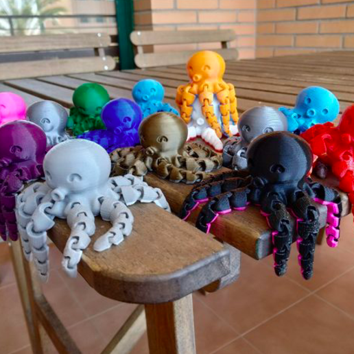 Download free 3D printer designs Cute mini octopus, jaumecomasfez