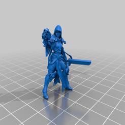 Descargar Modelos 3D para imprimir gratis La monja de la batalla fijada para la impresión, davikdesigns