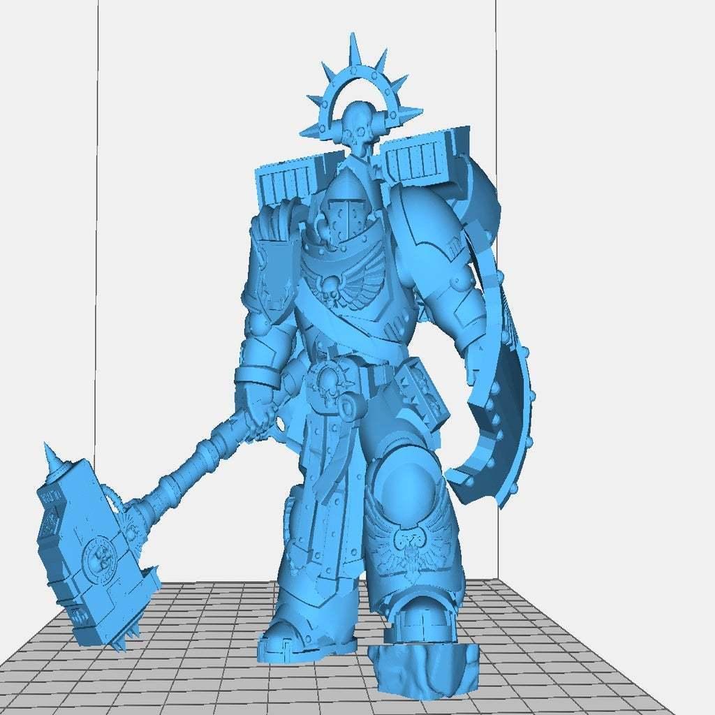 smash.jpg Télécharger fichier STL gratuit le capitaine de smashy War Hammer • Modèle pour imprimante 3D, davikdesigns