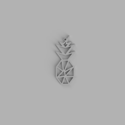 ananas.PNG Télécharger fichier STL Porte-clés ananas, collier • Objet pour imprimante 3D, PrinDings