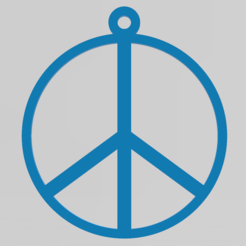 Peace.PNG Download STL file Peace keychain, necklace • 3D printing template, PrinDings