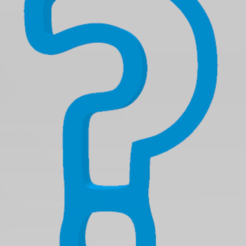 fragezeichen.PNG Download STL file Question mark cookie cutter • 3D printer object, PrinDings