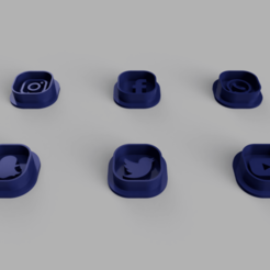 alle2.png Download STL file Social media icon cookie cutter set • Design to 3D print, PrinDings
