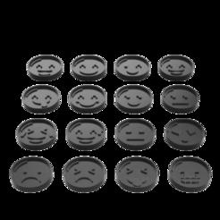 alle.png Télécharger fichier STL 16x Ensemble d'émoji pour la découpe de biscuits • Objet imprimable en 3D, PrinDings