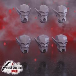 Nosferii_Cabal_head.png Download STL file Nosferii - Cabal Head • Design to 3D print, fleshcrafterscoven