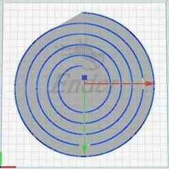 Spiral.jpg Télécharger fichier STL gratuit Test de niveau de lit en spirale 200mm, 6 boucles, écart 14, ligne avec 0,5 • Modèle à imprimer en 3D, xobyot