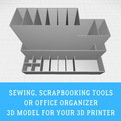 Sewing organizer.png Download STL file Sewing, scrapbooking tools or office organizer • 3D print template, doll_laugh_love