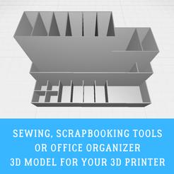 Sewing organizer.png Télécharger fichier STL Outils de couture, de scrapbooking ou d'organisation de bureau • Modèle pour imprimante 3D, doll_laugh_love