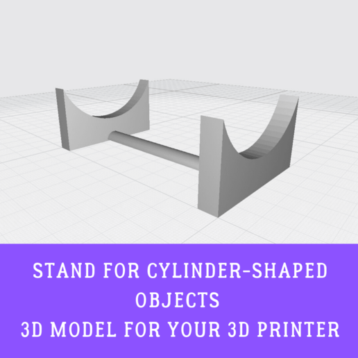 Download free 3D printer model STAND FOR CYLINDER-SHAPED OBJECTS LIKE A BOTTLE OR A CRYPTEX, doll_laugh_love