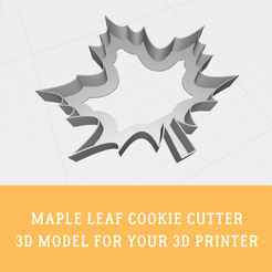 Download 3D model Maple leaf cookie cutter, doll_laugh_love
