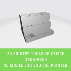3D Printer Tools Organizer.png Télécharger fichier STL Outils d'impression 3d ou organiseur de bureau • Plan à imprimer en 3D, doll_laugh_love