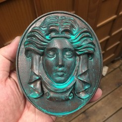 Download free 3D printing models Madame Leota Tombstone Plaque and Animatronics, licensed2hench
