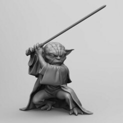 1.jpg Download OBJ file Master Yoda • Design to 3D print, juandhenao