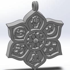 """Télécharger fichier 3D gratuit J'ai dit """"symboles bouddhistes, FannyBerea"""