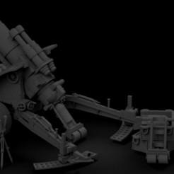 MEDUSA FINAL.jpg Télécharger fichier STL gratuit La pelleteuse de cratère à usage intensif et à courte distance d'un amateur de pelles • Design imprimable en 3D, RicktheBarber