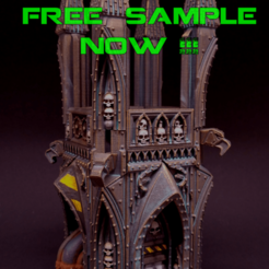 "free samples insa.png Download free STL file ""Sinister Cities"" Kickstarter FREE vase mode sample  • 3D printable template, RicktheBarber"