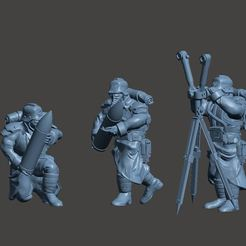 Download free 3D printer files Crew for Shovel enthusiast's long distance crater excavator, RicktheBarber
