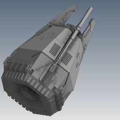 pod closed.JPG Télécharger fichier STL gratuit Capsule spatiale pour la livraison express de cercueils bipèdes • Objet imprimable en 3D, RicktheBarber