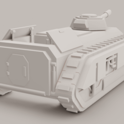 Pallas V2.png Download free OBJ file Epic 40k Imperial Guard Pallas (double chimera) large transport • Model to 3D print, christopherlemagnen