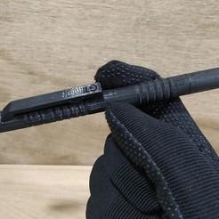 caneta tática em 3D guns toys.jpg Download STL file Tactical Pen /Caneta Tática 3D  EDC • 3D printable model, gpbarro