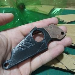 2.jpg Download STL file Mini edc tactical knife / Mini faca  • 3D printing model, gpbarro
