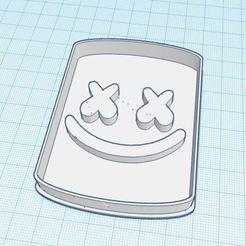 Download 3D printer templates Marshmello cookie cutter, ingenioalcubo3d