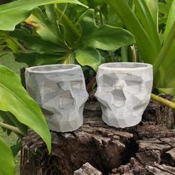 Download 3D printing designs Skull Concrete Pot Mold, unlimit3dpty21