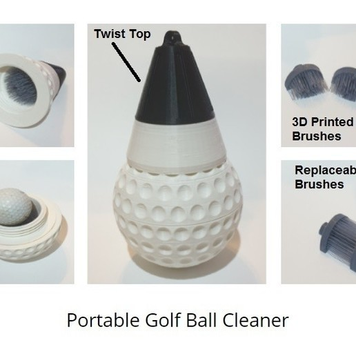 Download 3d Model Portable Golf Ball Washer Cults