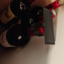 IMG_20191017_194432.jpg Download STL file Wine bottle label holder • Object to 3D print, lostinalps