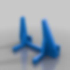 laptopStand2.stl Télécharger fichier SCAD gratuit Support d'ordinateur portable personnalisable (quasi vertical) • Objet imprimable en 3D, dantu