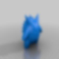 Gengar_Onepart_solid_Reduced.stl Download free STL file Gengar Pokemon (one part remix) • Model to 3D print, dantu