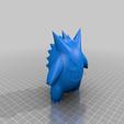 Gengar_Onepart_solid_Reduced.png Download free STL file Gengar Pokemon (one part remix) • Model to 3D print, dantu