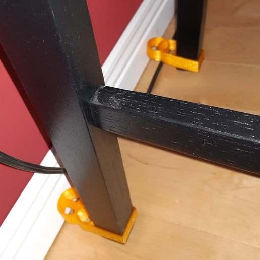 Descargar archivos STL gratis Parachoques de la pared de la pierna de la silla para Roomba (TPU), dantu