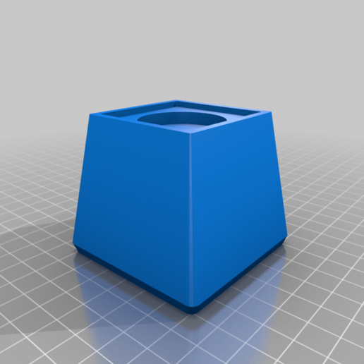 Download free SCAD file Customizable Square Furniture Riser • 3D printable design, dantu