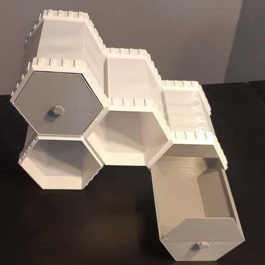 Descargar archivos 3D gratis Cajones hexagonales con enclavamiento económico, dantu