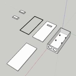 Imprimir en 3D gratis caja hermética SONOFF TH16, GalyBlade