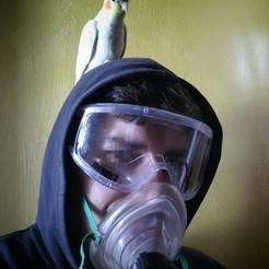 Download free 3D printing templates Respirator Pocket Mask Covid SOS ITALY, Clown_Jos