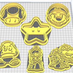 Mario.PNG Download STL file Mario's Cookie Cutters • 3D print template, marcelrios