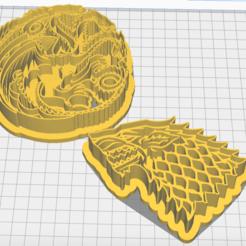 Captura de Pantalla 2020-10-12 a la(s) 15.55.27.png Download STL file Cookie Cutter Game of Thrones houses • 3D printer design, marcelrios