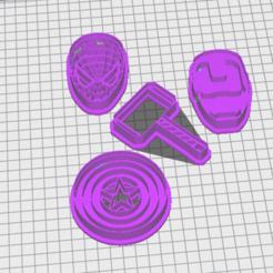 Marvel.PNG Download STL file Marvel Heroes Cookie Cutter Kit • 3D printer design, marcelrios